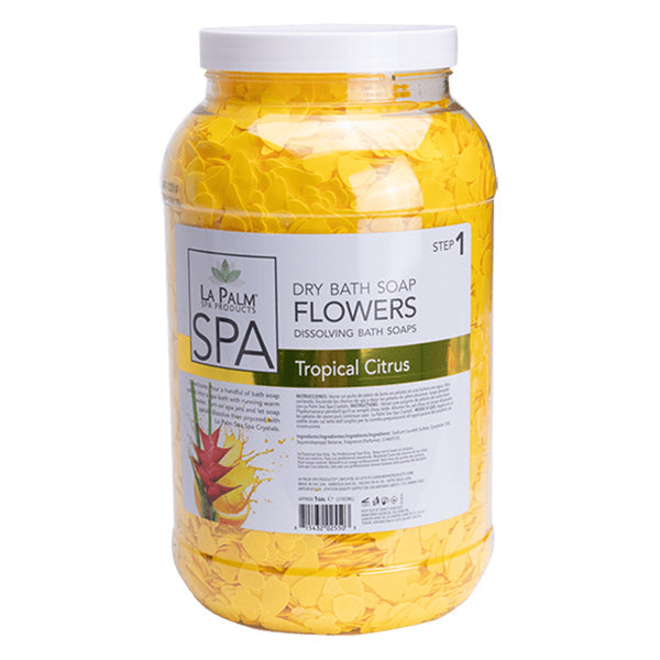 Dry Soap Flower Petals for Foot Bath - Tropical Citrus by LaPalm