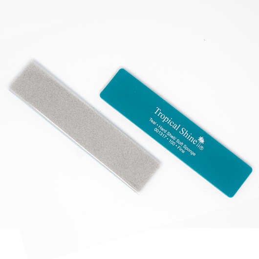 Tropical Shine Reusable Antibacterial Hard Shell & Soft Sponge Nail File 100 Grit (Coarse)