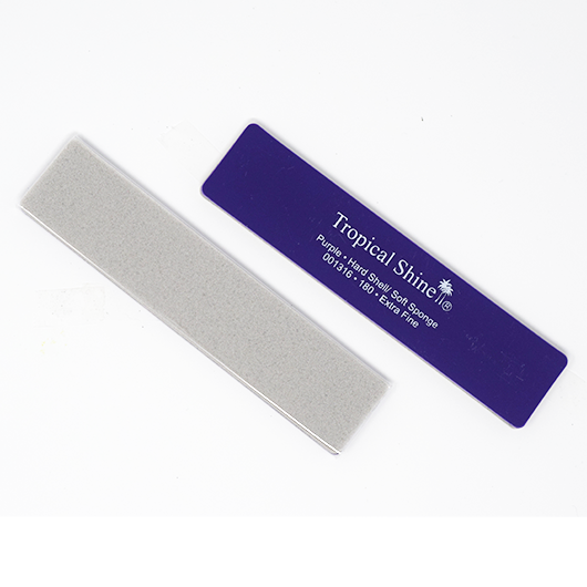 Tropical Shine Reusable Antibacterial Hard Shell & Soft Sponge Nail File 180 Grit (Medium)