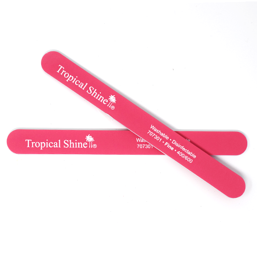 Tropical Shine Reusable Nail File 400/600 Grit (Fine) Pink File