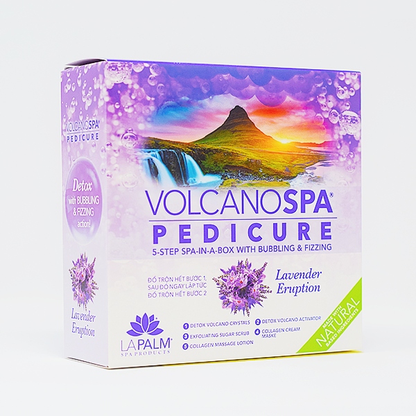 Volcano Spa Pedicure Kit - Lavender Eruption Pedicure Spa In a Box (5 step) by LaPalm