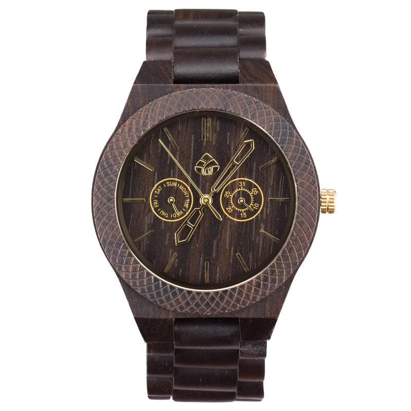The Juglan Nut Gold Wood Watch