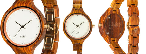 Virago Ladies Wood Watch - Leafwood