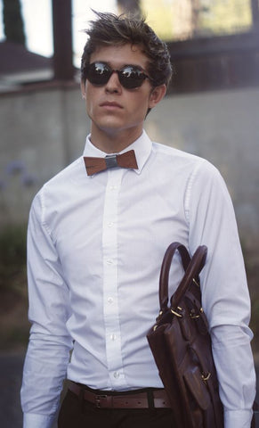 Wood Bow Tie - Mule Ties