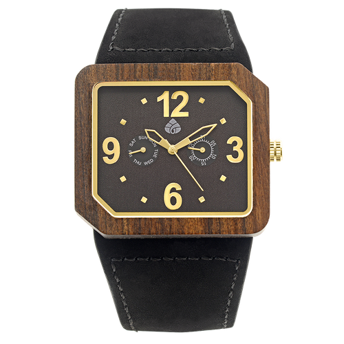 Leafwoods Terra Juglan Gold, Mens Wood Watch