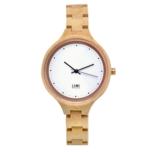 Leafwood's Virago Maple, Women's Wood Watch