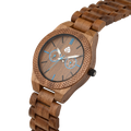 Leafwoods Juglan Nut Blue, Mens Wood Watch