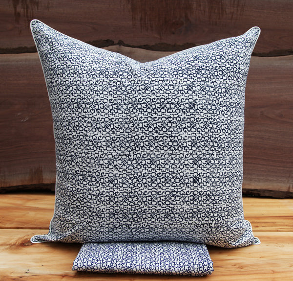 Suzani Rows<br>Colour Indigo<br>Pillow Sham