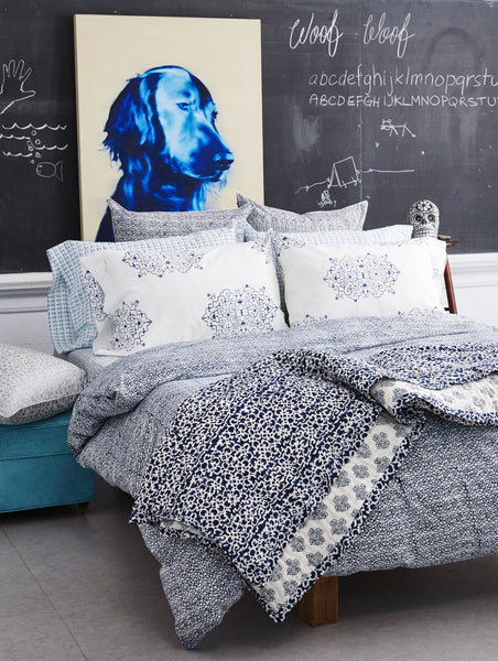 Suzani Rows<br> Colour Indigo<br>Duvet Cover