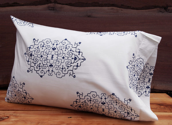 Haru<br>Colour Indigo<br>Pillow Case