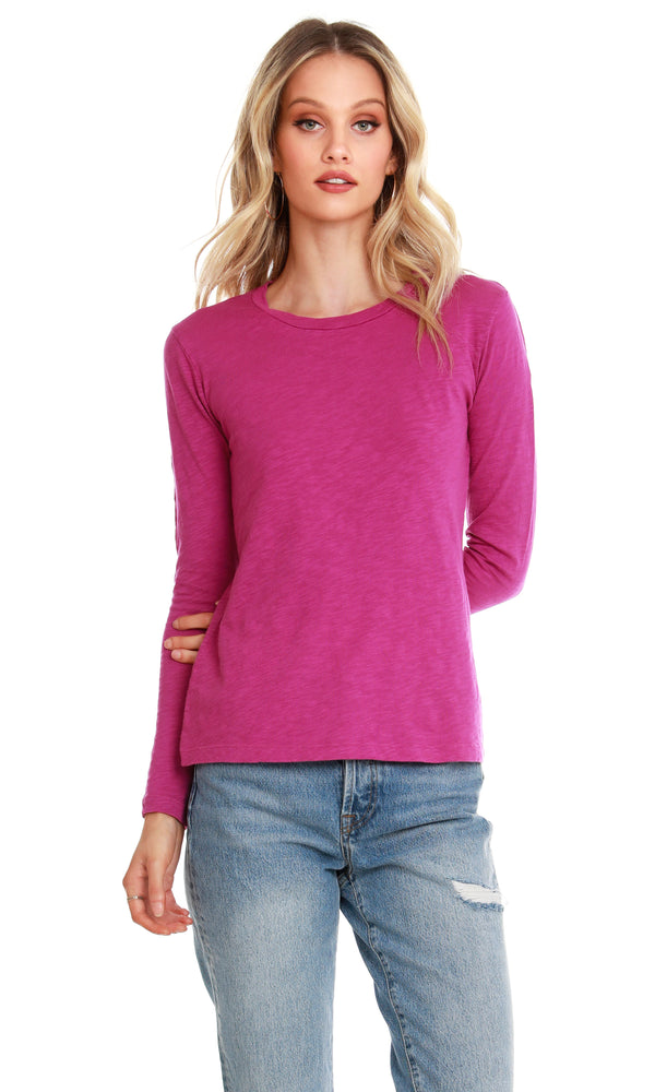L/S Scoop Neck Top