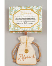 """Blessed"" Love Code Necklace"