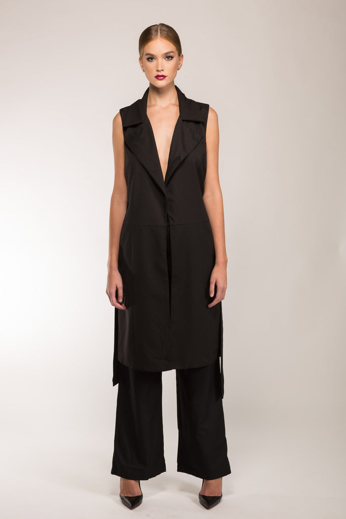 Brooklyn Long Line Sleevless Vest