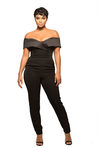 Black Cape Jumpsuit