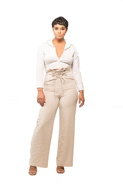 Tory High Waist Corset Trousers