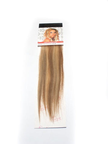 1st Lady Natural Euro Human Hair Blended Clip on Hair Extensions (1pcs) - Elysee Star
