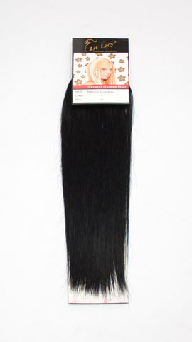 "1st Lady Natural Euro Silky Straight Blended Human Hair Weft 16"" - Elysee Star"