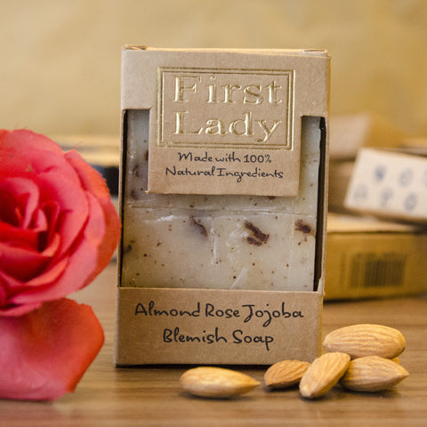 First Lady Handmade Natural Almond Rose Jojoba Blemish Soap - Elysee Star
