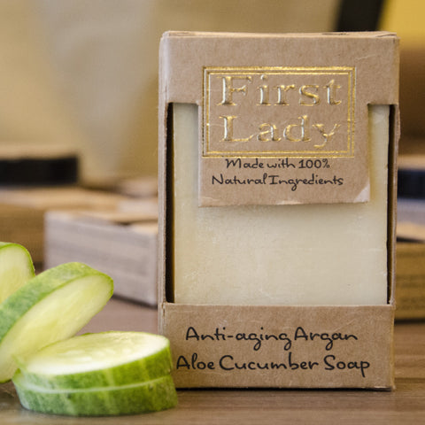 First Lady Handmade Natural Anti-Ageing Argan Aloe Cucumber Soap - Elysee Star
