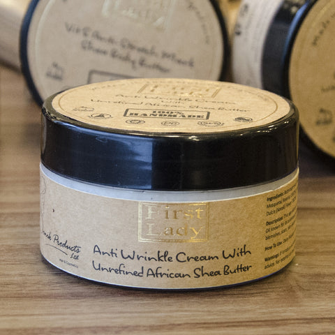 First Lady Handmade Natural Anti-Wrinkle Cream With Unrefined African Shea Butter