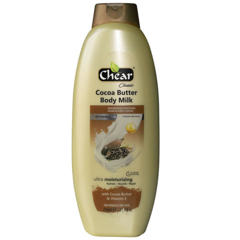 Chear Cocoa Butter & Vitamin E Ultra Moisturising Hand & Body Milk - Elysee Star
