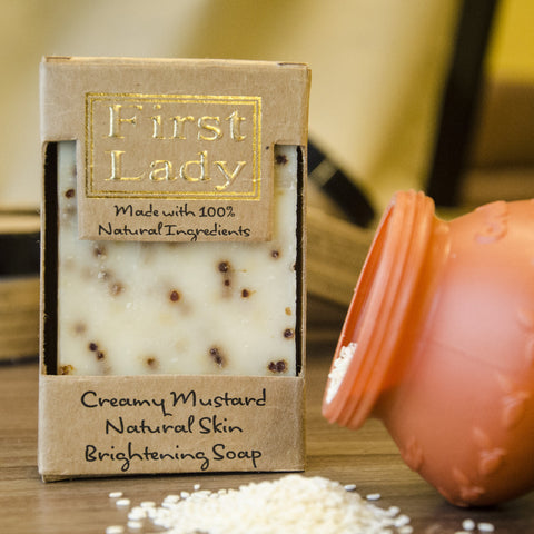 First Lady Handmade Creamy Mustard Natural Skin Brightening Soap