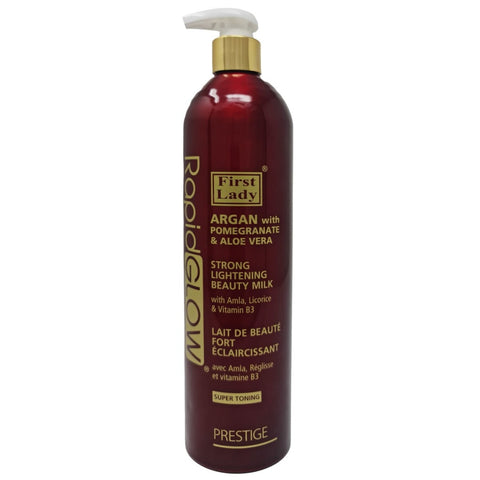 First Lady Rapid Glow Argan with Pomegranate & Aloe Vera Strong Lightening Beauty Lotion Milk