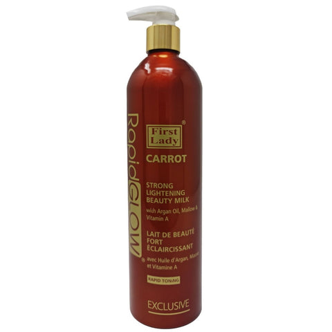 First Lady Rapid Glow Carrot Strong Lightening Beauty Milk Lotion