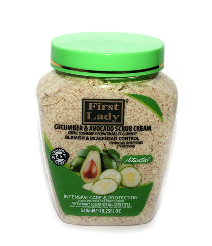 First Lady Cucumber & Avocado Clarifying Scrub Cream for Face & Body