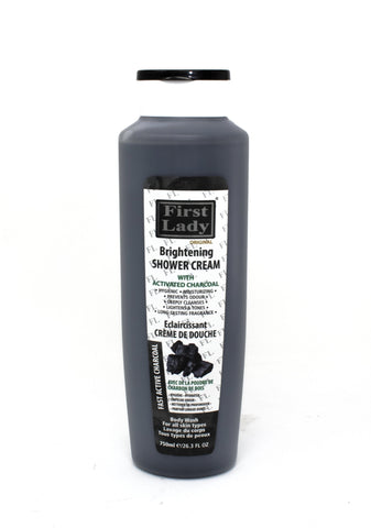 First Lady Charcoal Brightening Shower Cream