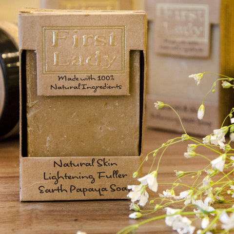 First Lady Handmade Natural Lightening Fuller Earth Papaya Soap