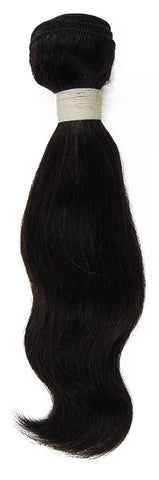 Peruvian Unprocessed Human Hair Weft Natural Wave 10""