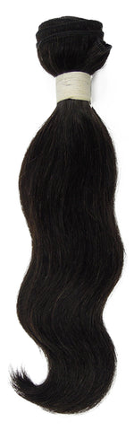 Peruvian Unprocessed Human Hair Weft Natural Wave 12""