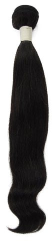 Peruvian Unprocessed Human Hair Weft Natural Wave 16""