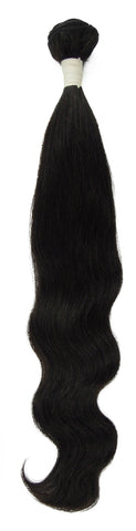 Peruvian Unprocessed Human Hair Weft Natural Wave 20""