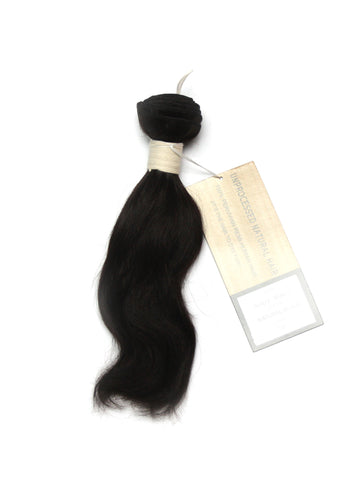 Peruvian Unprocessed Human Hair Weft Body Wave 10""