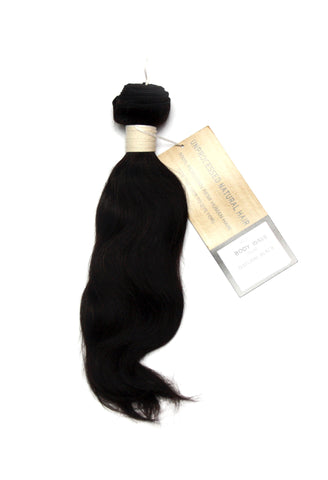 Peruvian Unprocessed Human Hair Weft Body Wave 12""