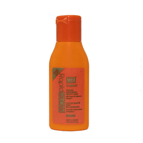 FREE SAMPLE - First Lady Rapid Glow Carrot Strong Lightening Beauty Milk Lotion 30ml