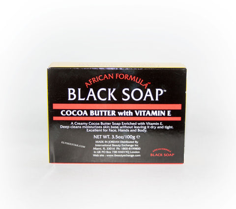 African Formula Black Soap Cocoa butter + Vitamin-E - Elysee Star