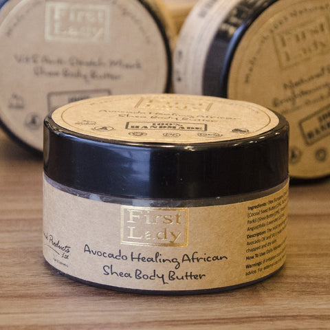 First Lady Handmade Natural Avocado Healing African Shea Body Butter