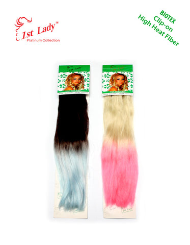 "1st Lady Biotex Clip-On Hair Ombre Synthetic Hair extensions 18"" (8Pcs) - Elysee Star"