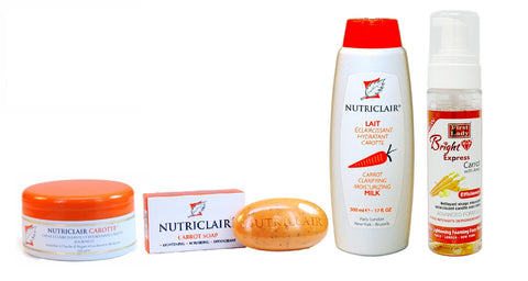 Nutriclair Carrot KIT + Bright Express Carrot Foam Wash (4) - Elysee Star