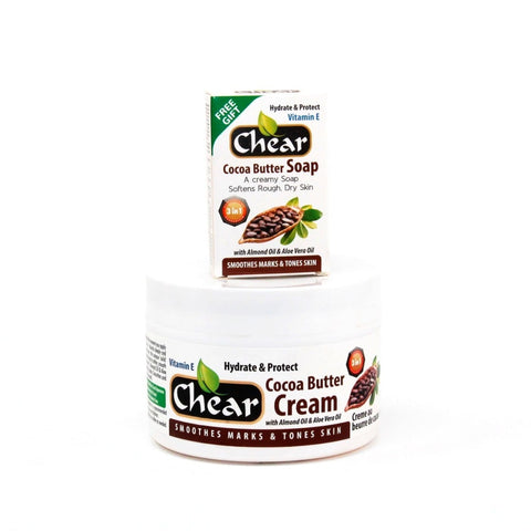 Chear Cocoa Butter Cream Deeply Moisturises Hands & Skin - Elysee Star