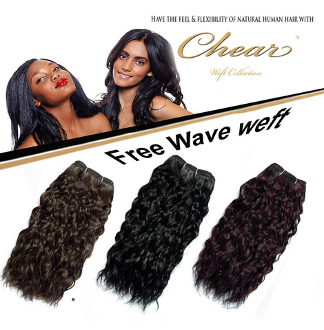 "Chear Free Wave 18"" Blended Human Hair Weft - Elysee Star"