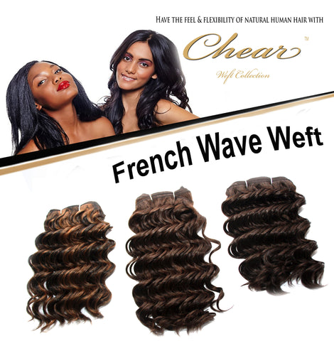 "Chear French Wave 12"" Blended Human Hair Weft - Elysee Star"