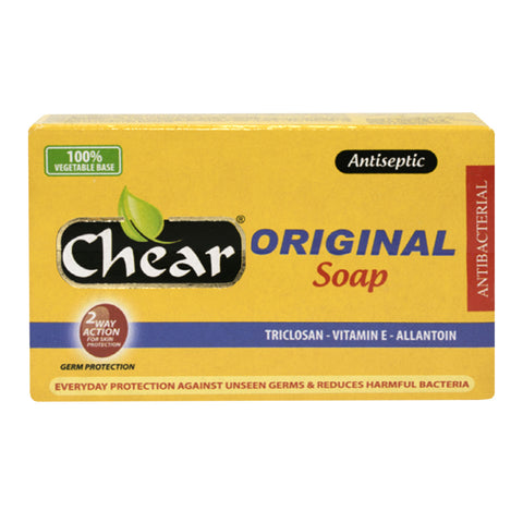 Chear Original Antiseptic Face & Body Soap with Triclosan, Vitamin E & Allantoin
