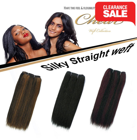 "Chear Silky Straight  (2In1)  8"" Blended Human Hair Weft - Elysee Star"