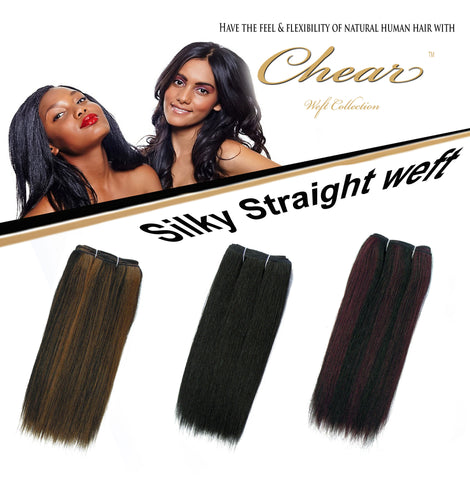 "Chear Silky Straight  18"" Blended Human Hair Weft - Elysee Star"