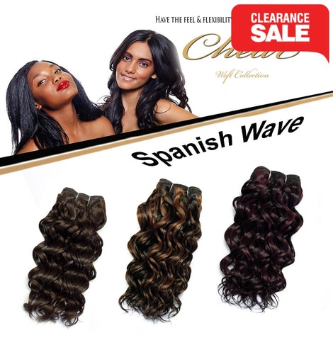 "Chear Spanish Wave (2In1)  8"" Blended Human Hair"