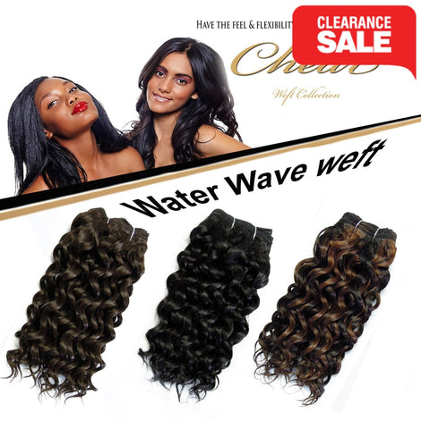 "Chear Water Wave  (2In1)  8"" Blended Human Hair weft"